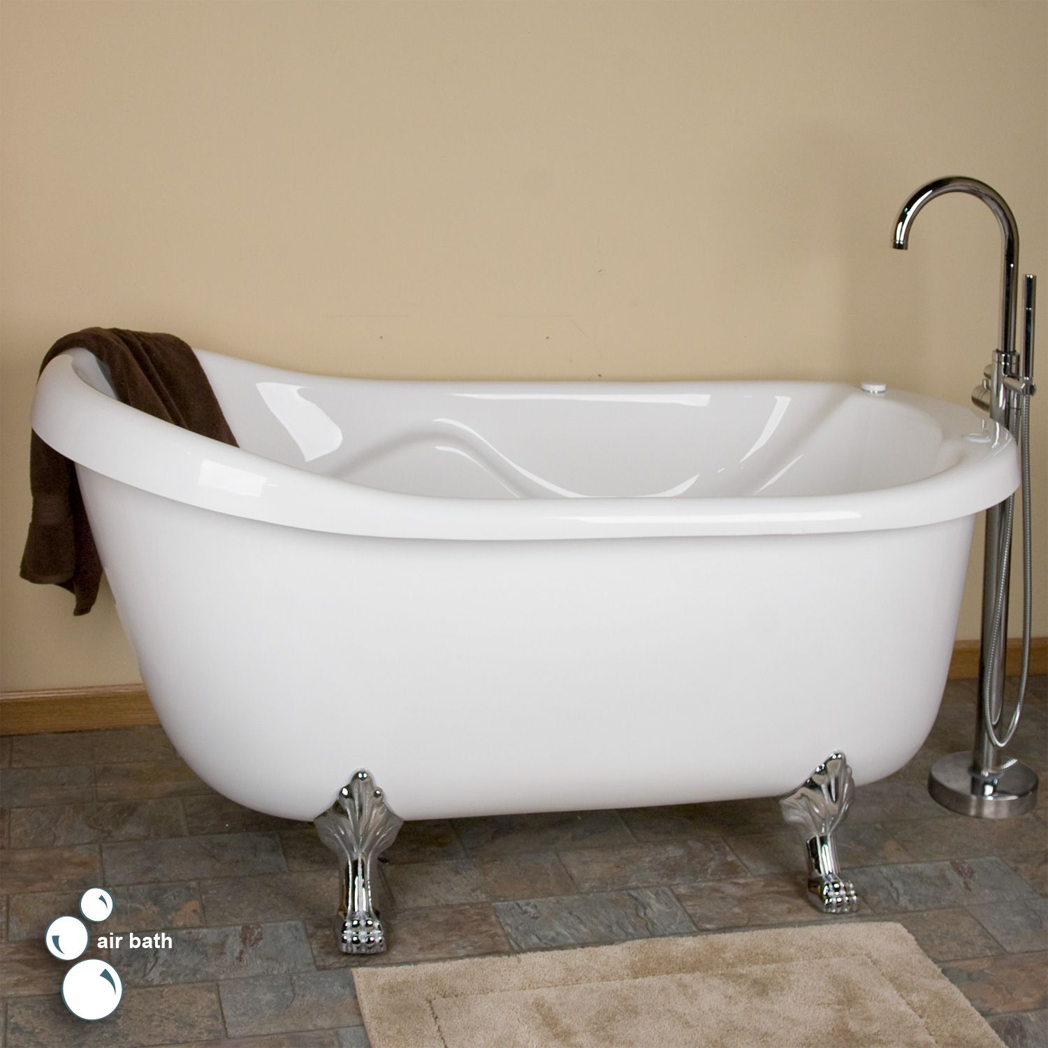 67 Anelle Acrylic Slipper Clawfoot Whirlpool Tub Bath