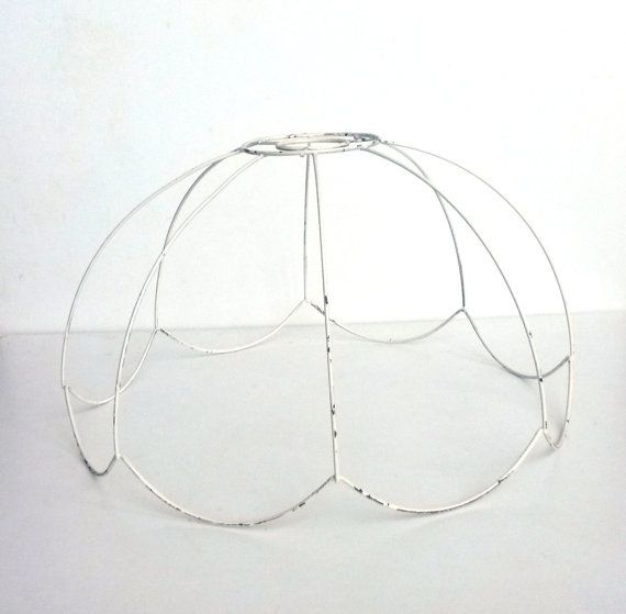 Wire Lampshade Frames Pleasing Lamp Shade Frame  Wire Frame Authentic Vintage Lampshade Wire Inspiration Design