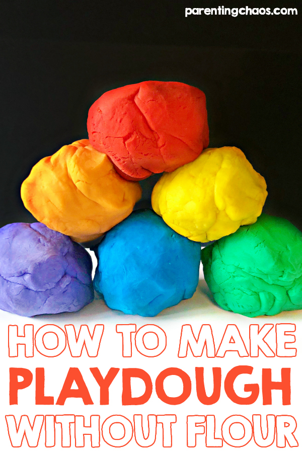 How to Make Playdough Without Flour ⋆ Parenting Chaos