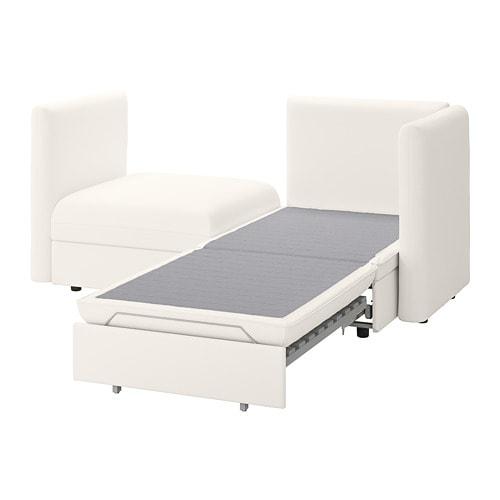 Vallentuna 2 Seat Modular Sofa With Sofa Bed And Storage Murum White Ikea Sofa Bed With Storage Modular Sofa Flexible Furniture