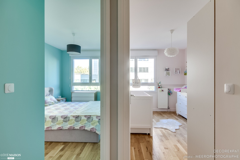 r novation compl te d 39 un appartement de 60 m2 clichy pour un couple de fran ais de retour d. Black Bedroom Furniture Sets. Home Design Ideas
