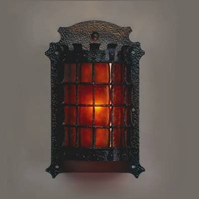Mica Lamp Company Lf205 B B Manor Iron Wall Sconce