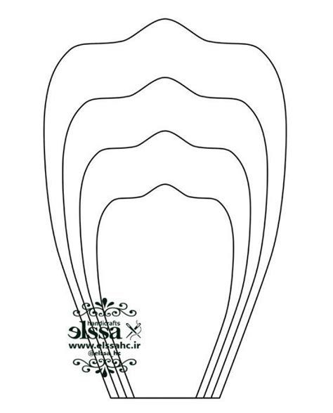 الگوی گلبرگ ۰۳ | السا | Paper Flower Patterns, Paper