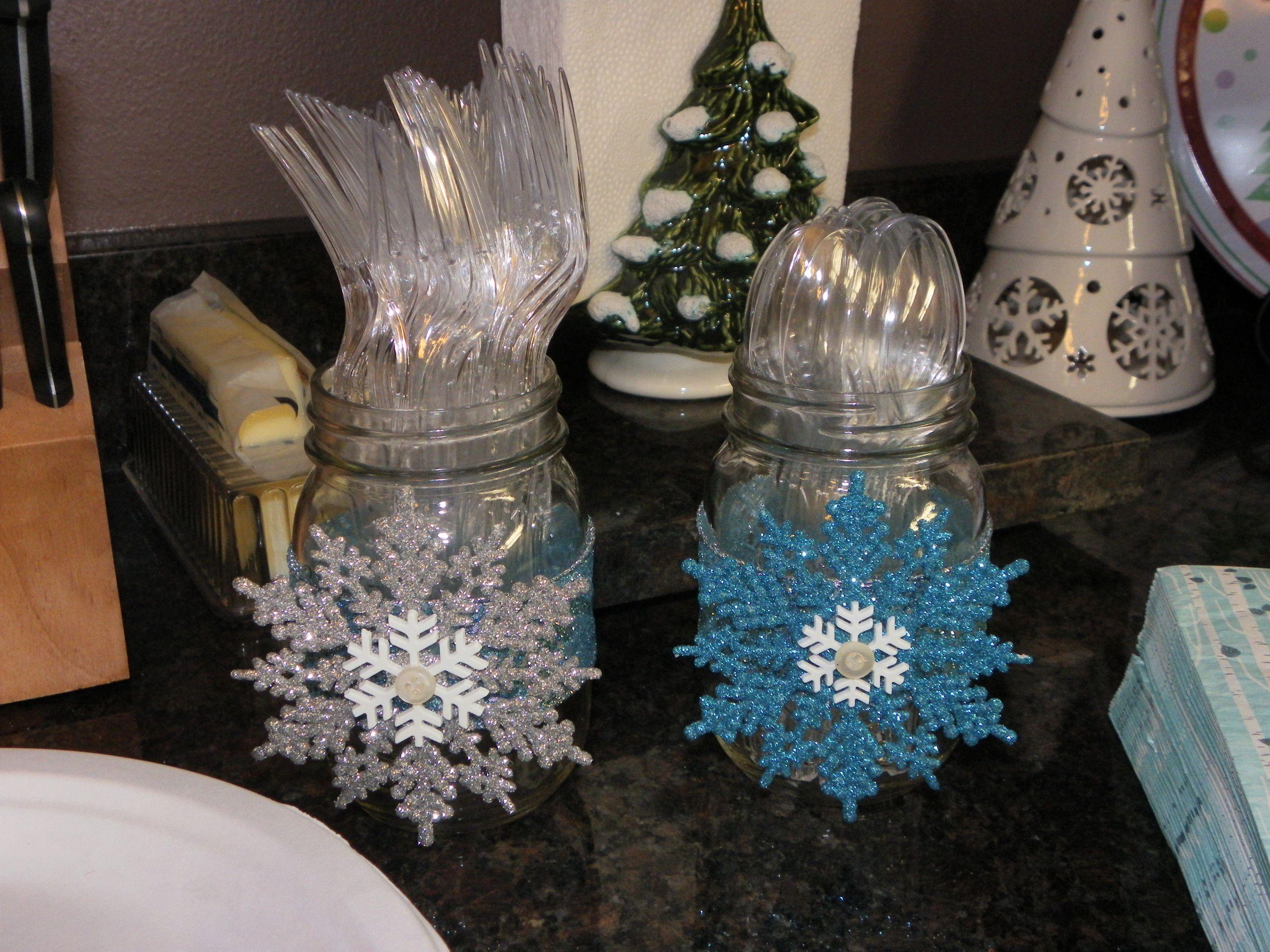 Baby Shower Decor With Mason Jars ~ Indoor decor baby it s cold outside shower mason jar