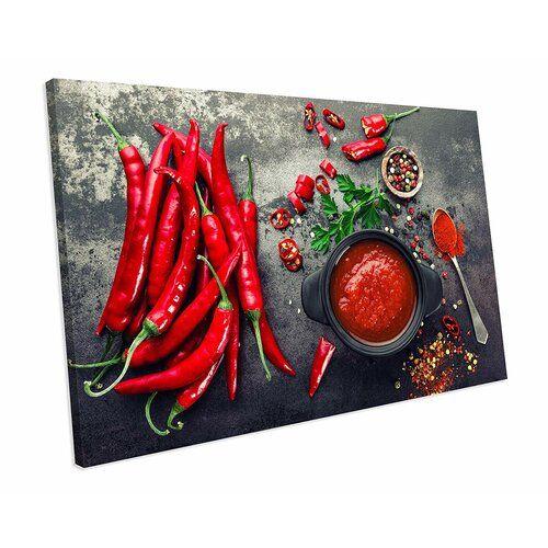 Red Hot Cilli Food Kitchen' Fotografie auf Leinwand East Urban Home Größe: 48 cm H x 92 cm B x H x 92 cm B