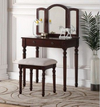 Cloverly Vanity Set with Mirror Products Pinterest Vanities - Bedroom Vanity Table