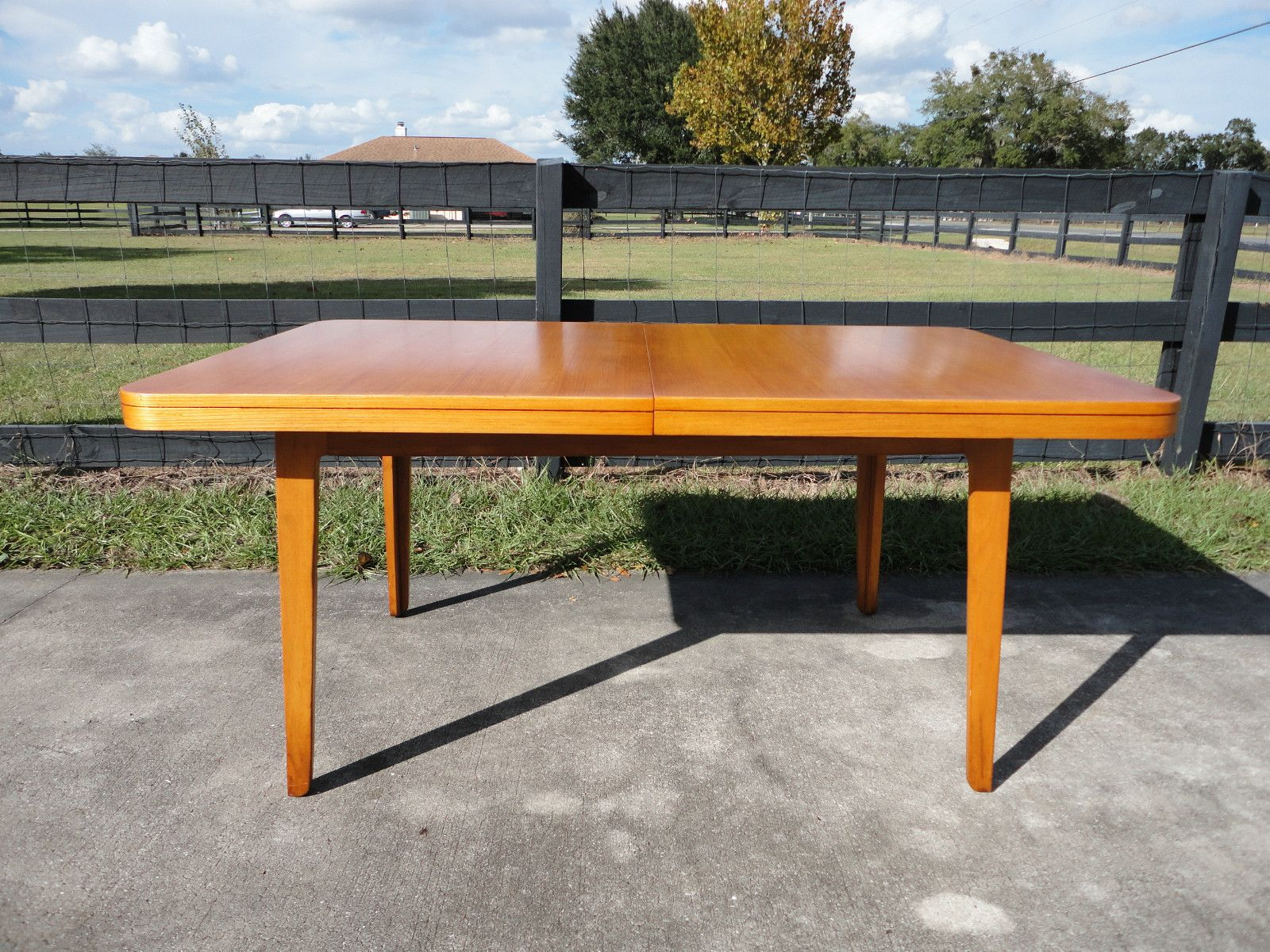 mid century modern edward wormley precedent dining table by drexel
