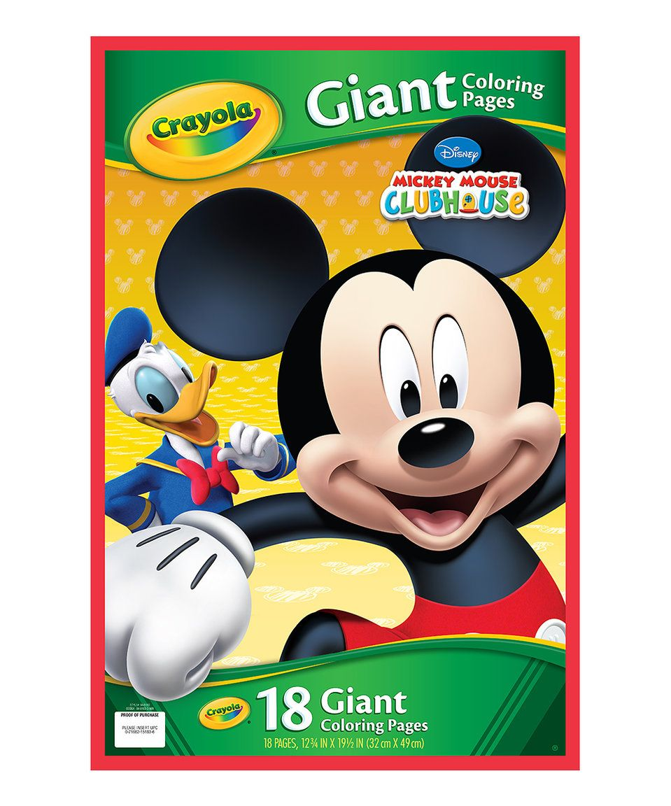 Take a look at this Mickey Mouse Clubhouse Giant Coloring Pages ...