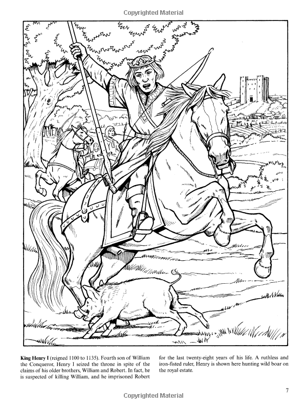 Kings And Queens Of England Coloring Book Dover History Amazon