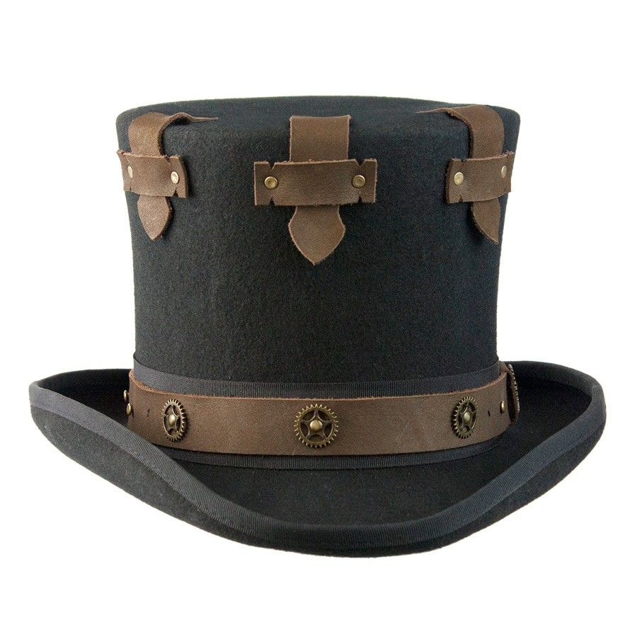 The Prince Steampunk Top Hat - Black