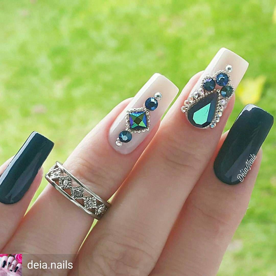Pin de Krystal Lynn en Nail art <3 | Pinterest | Diseños de uñas ...