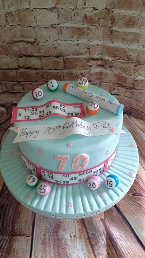 Bingo cake by milkmade For all your cake decorating supplies