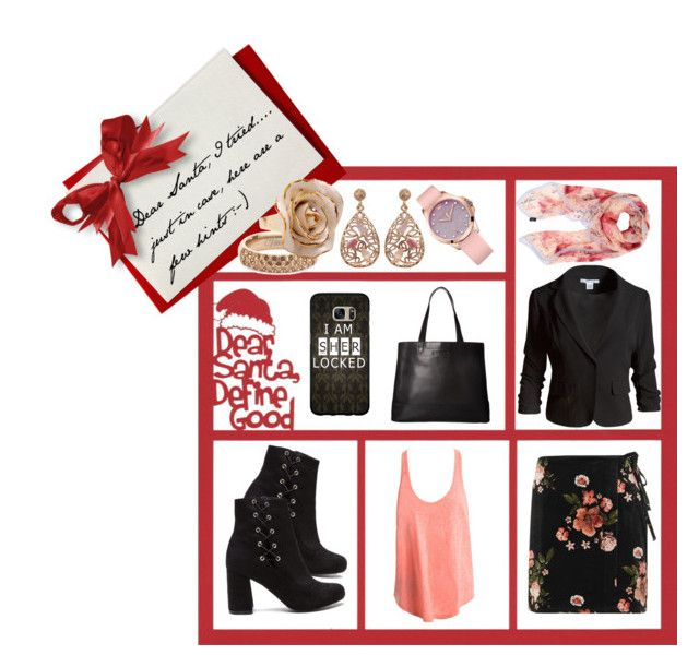 """""""Dear Santa... I tried,,,"""" by teresarussell49 ❤ liked on Polyvore featuring Topshop, Sans Souci, Vitaly, Luxiro, Hop Skip & Flutter, SOREL, Juicy Couture, Samsung and Furla"""
