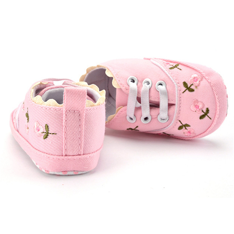 Baby Girl Boy Shoes Lace Floral Embroidered Soft Prewalker Walking Toddler Kids Shoes First Walker Baby Girl Shoes Baby Shoes Boy Shoes