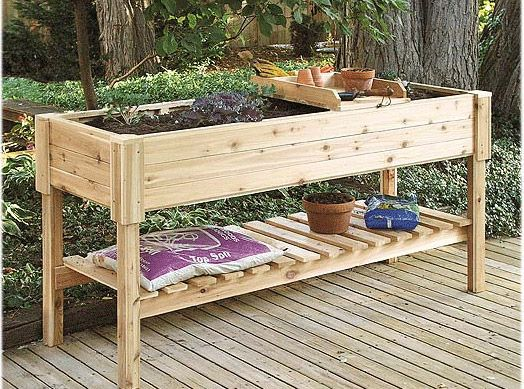 Raised Deck Planter Box Cedar Patio Box Raised Garden Planters Elevated Garden Beds Elevated Gardening