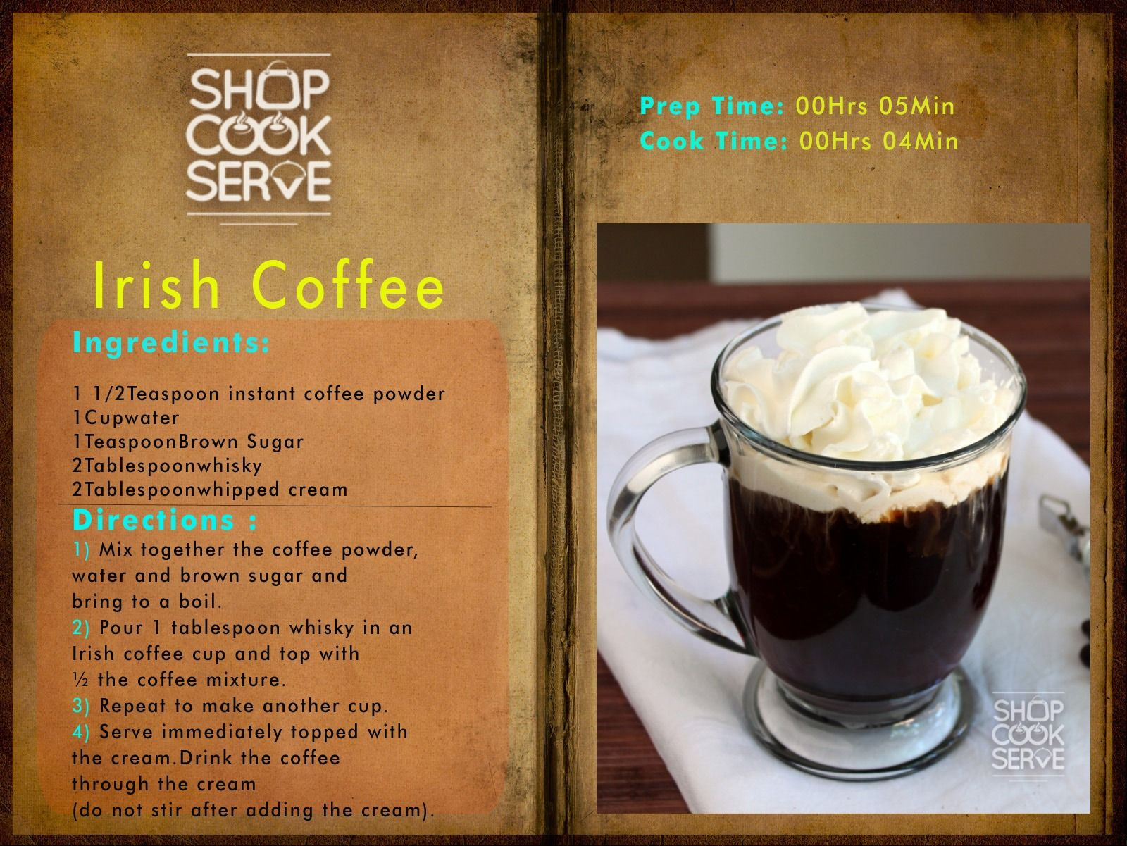 Irish coffee whether planning a quiet affair or a