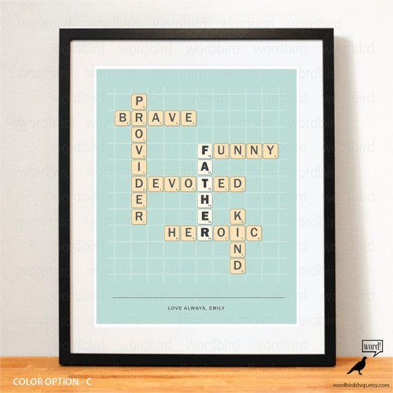 Fathers Day Gift Idea Print By WordBirdShop