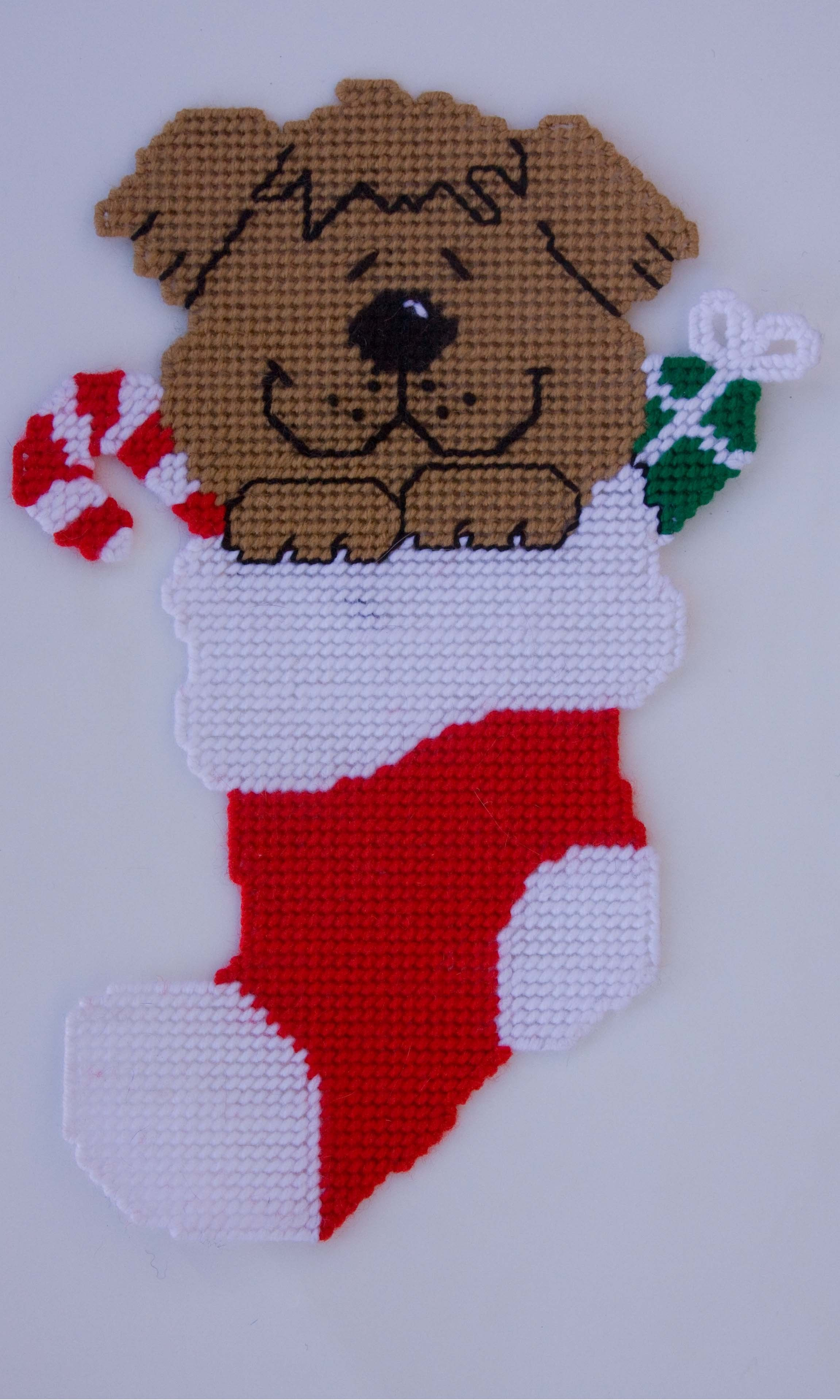 Puppy Dog Coaster Set-Plastic Canvas Pattern or Kit