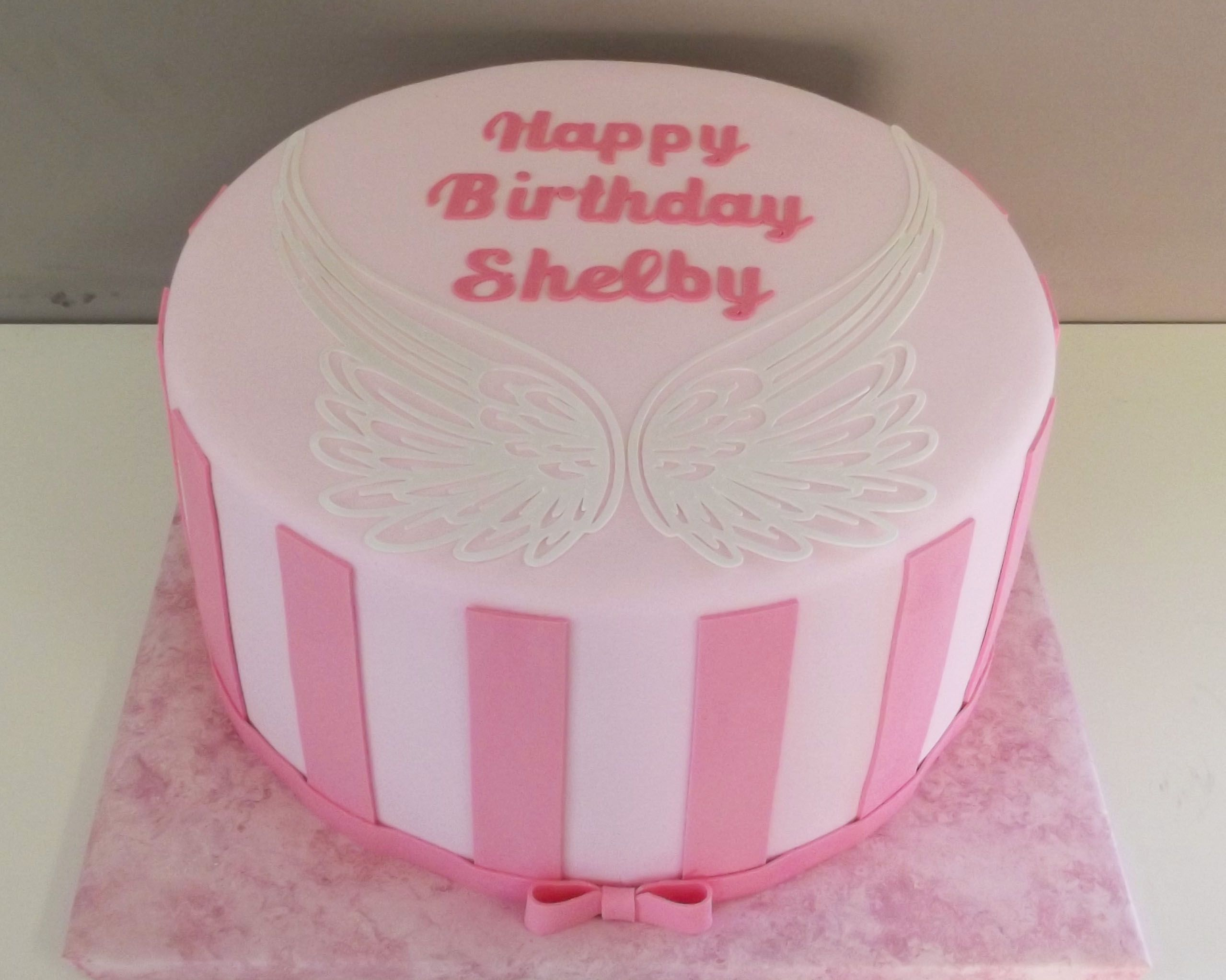 Angel Wings Birthday Cake Birthday cakes Pinterest Angel wings