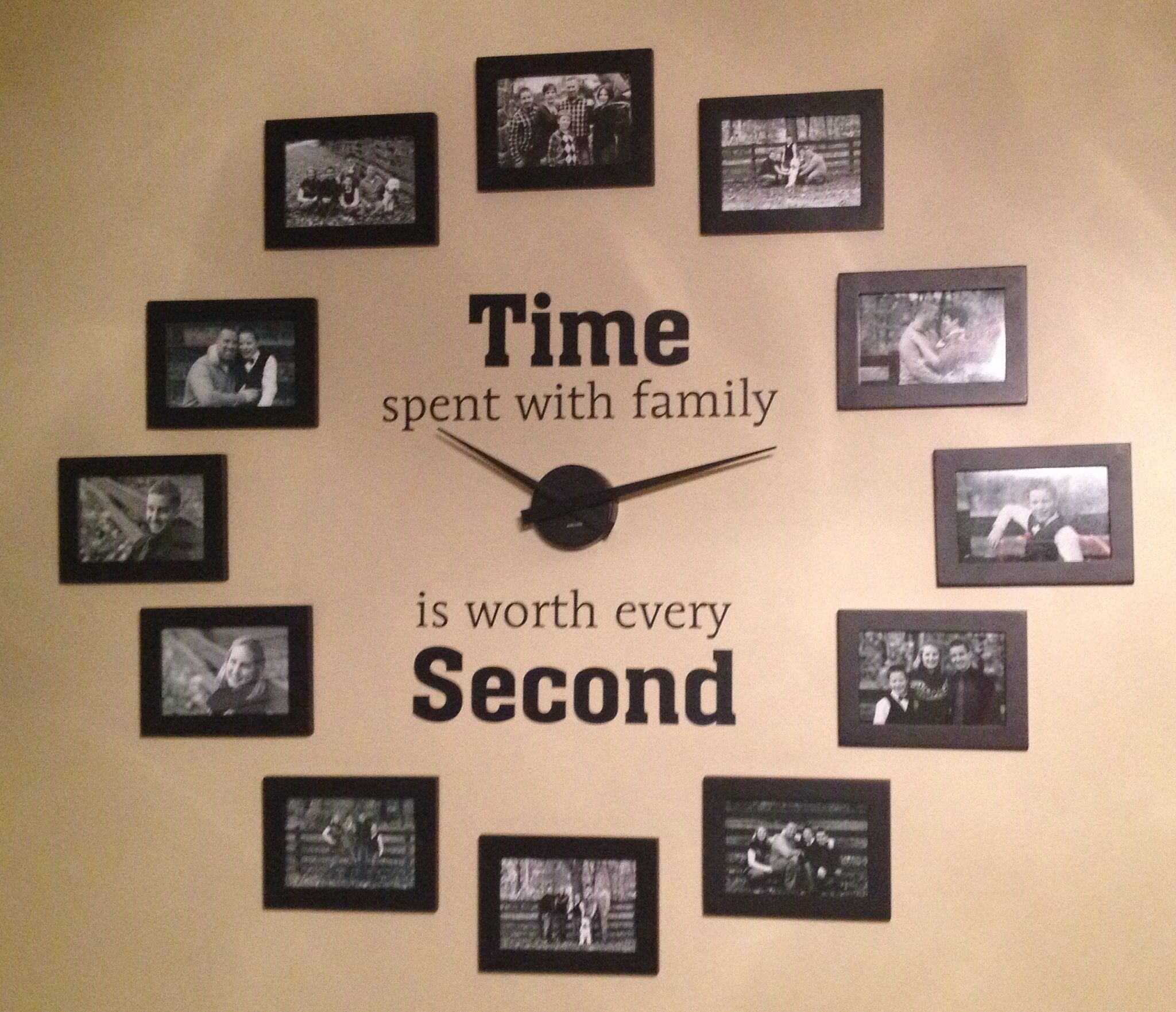 Family Photo Wall Clock Nastennye Chasy Stena Pamyati Dizajn