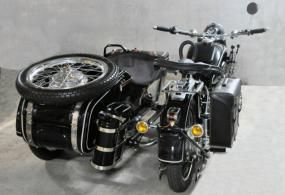 original 1962 chang jiang cj-750 motorcycle & sidecar not bmw r71
