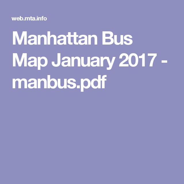 Manhattan bus map january 2017 manbuspdf nyc pinterest manhattan bus map january 2017 manbuspdf sciox Images
