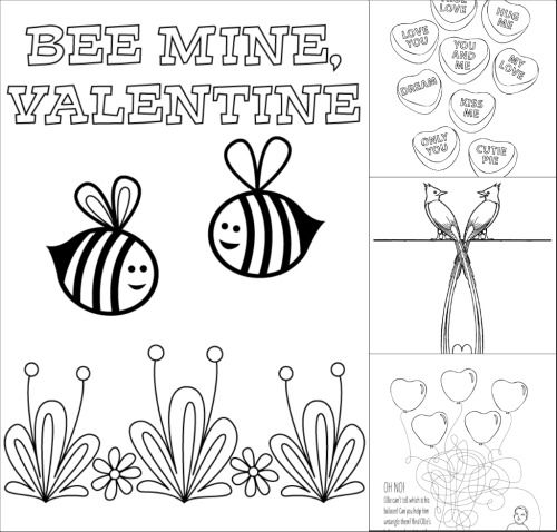 Bee My Valentine Coloring Page You'll Love