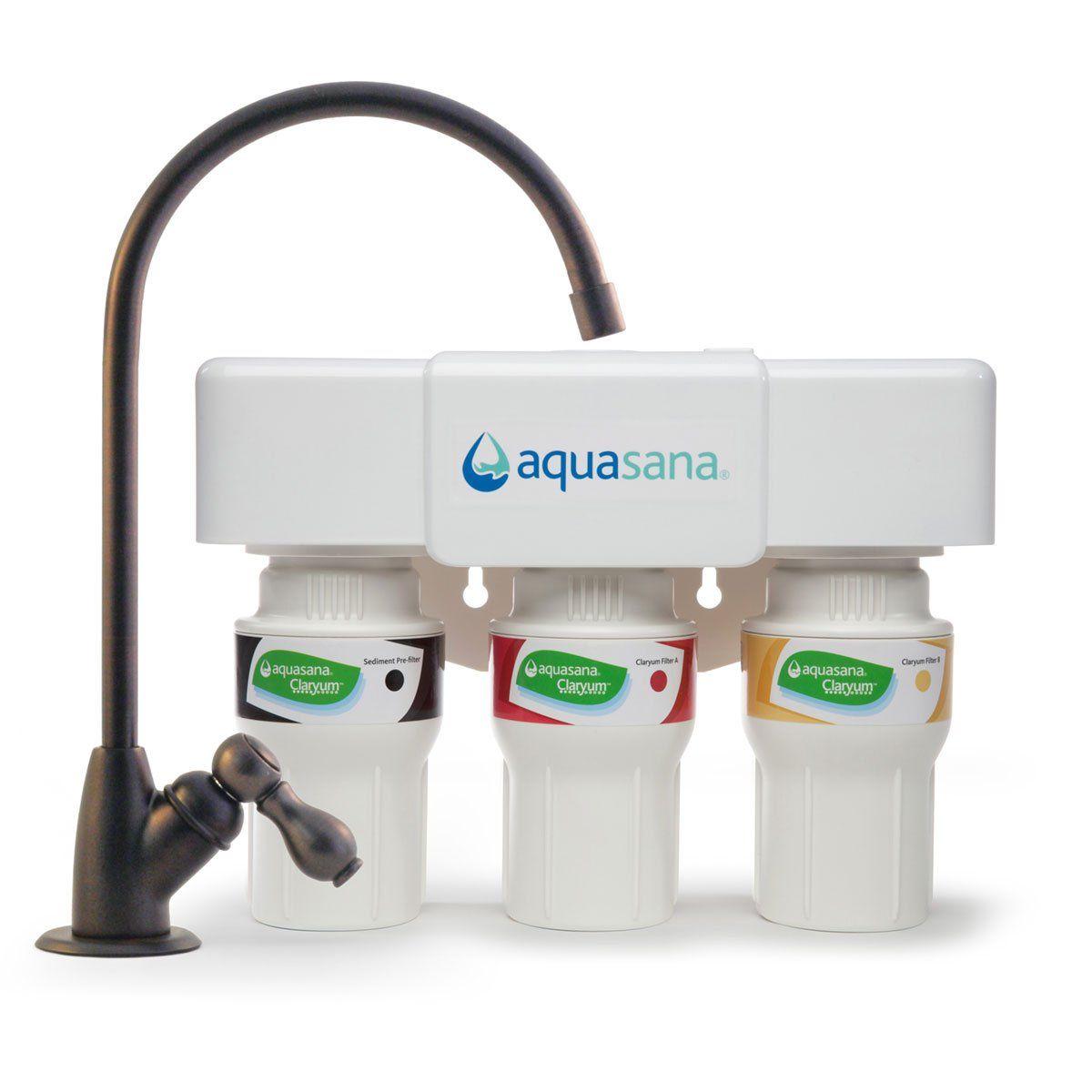 Aquasana 3 Stage Under Sink Water Filter System Kitchen Counter