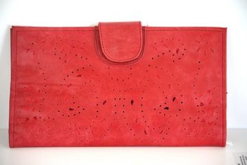 Stunning Red Leather Wallet. $120.00
