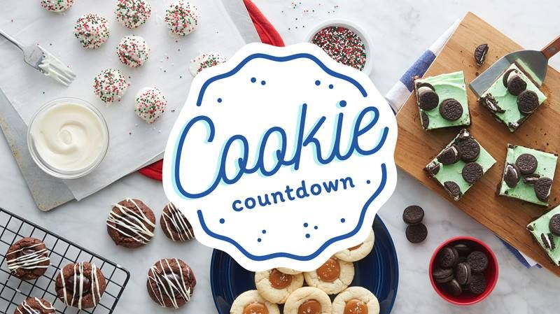 Cookie Countdown Freshly baked, Christmas cookies and Pillsbury