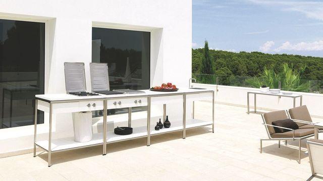 Cuisine D'Extérieur Inox, Mobile, Design, Barbecue, Plancha