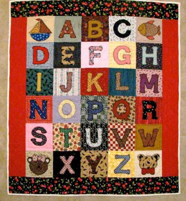 Gallery of Inspiring Ideas for Baby Boy Quilts | Knit crochet ... : alphabet baby quilt pattern - Adamdwight.com