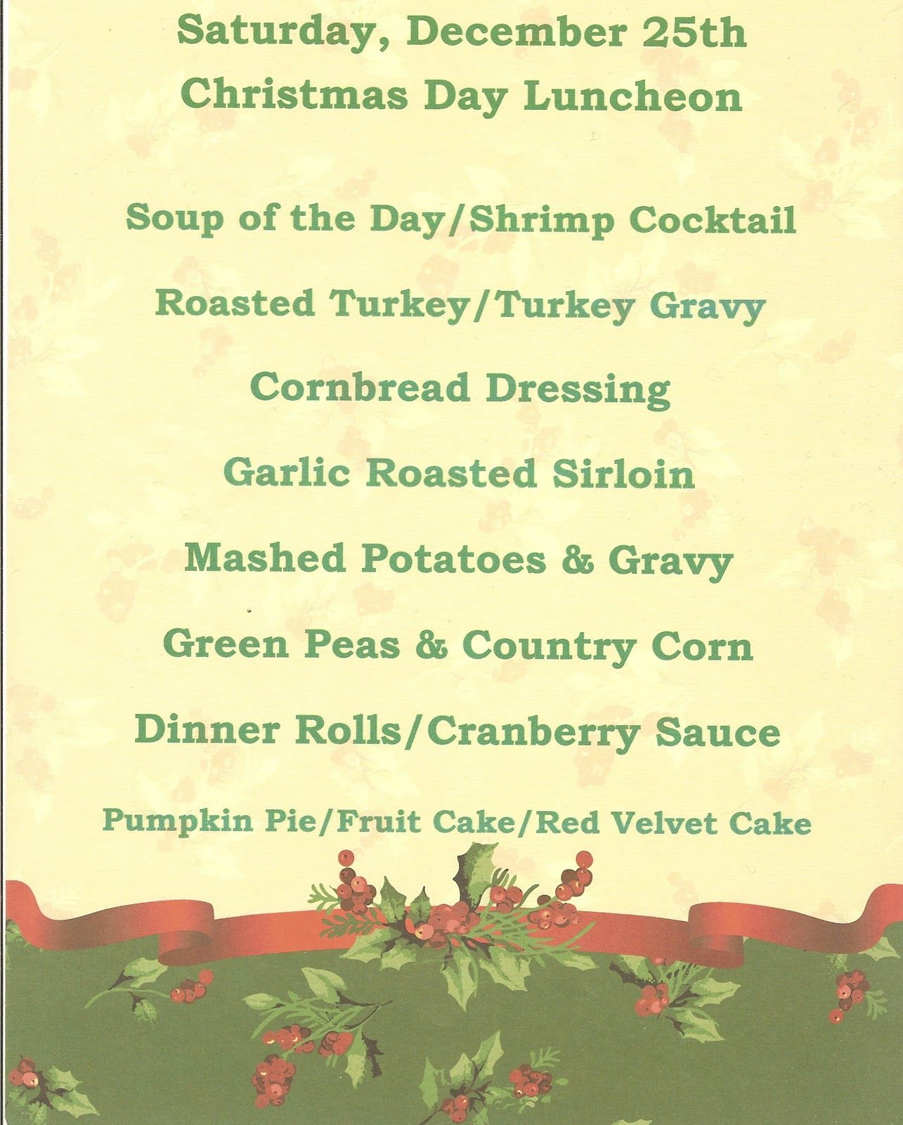 english victorian christmas dinner menu | christmas menu for no ...