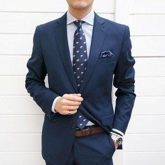 Cómo combinar un traje azul marino en 2017 (374 formas)  7279dd2653b
