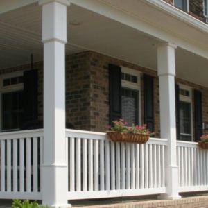 Porch Posts Premier Vinyl Fencing Is Final With Premier Vinyl Porch Posts House With Porch Porch Post Wraps