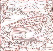 Diddybag Set 11149 - Gone Fishing Redwork