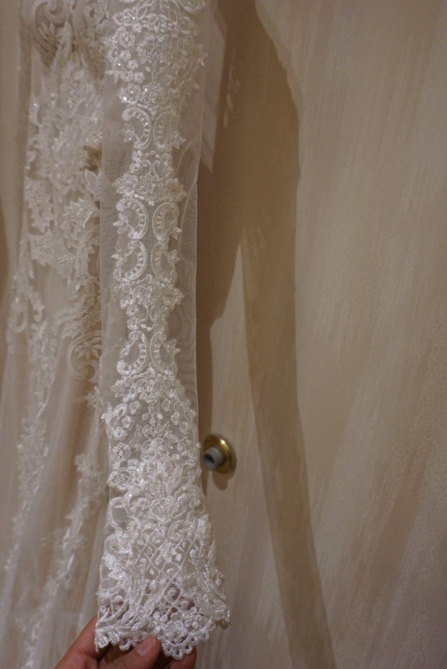 Lace up back wedding dress november 2018 Galia Lahav  Sleeve Detail  Designer Destination Weddings