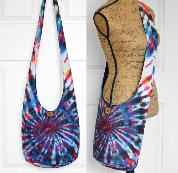Hobo Bag Boho Bag Crossbody Bag Hippie Purse Sling by 2LeftHandz