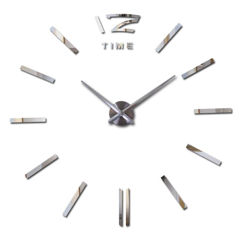2016 vendita calda orologio da parete grandi orologi da parete decorativo casa decor fai da te orologi soggiorno reloj murale autoadesivo della parete di trasporto libero