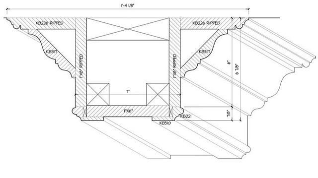 Here is the interior architectural elevation of the