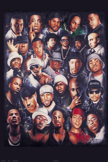 Rap Legends Celebrity Poster By John Martin Hip Hop Music Rap Artists Hip Hop Artists