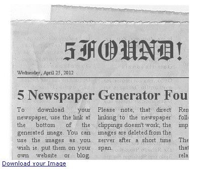 newspaper generator by fodey prank | GREAT Apps & Sites