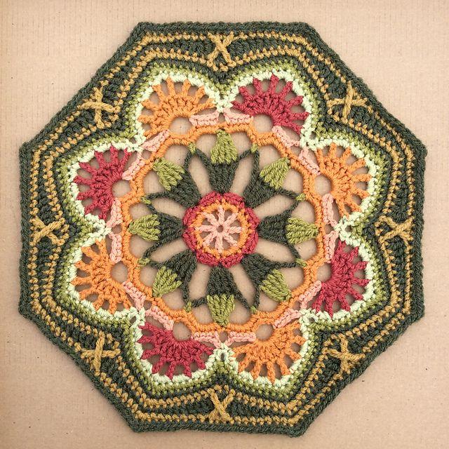 Ravelry: flamelily\'s Persian Tiles Test   crochê square   Pinterest ...