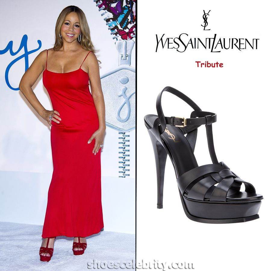 Yves Mariah Platform Laurent Tribute Carey Saint SandalsRed Shoes deCBxro