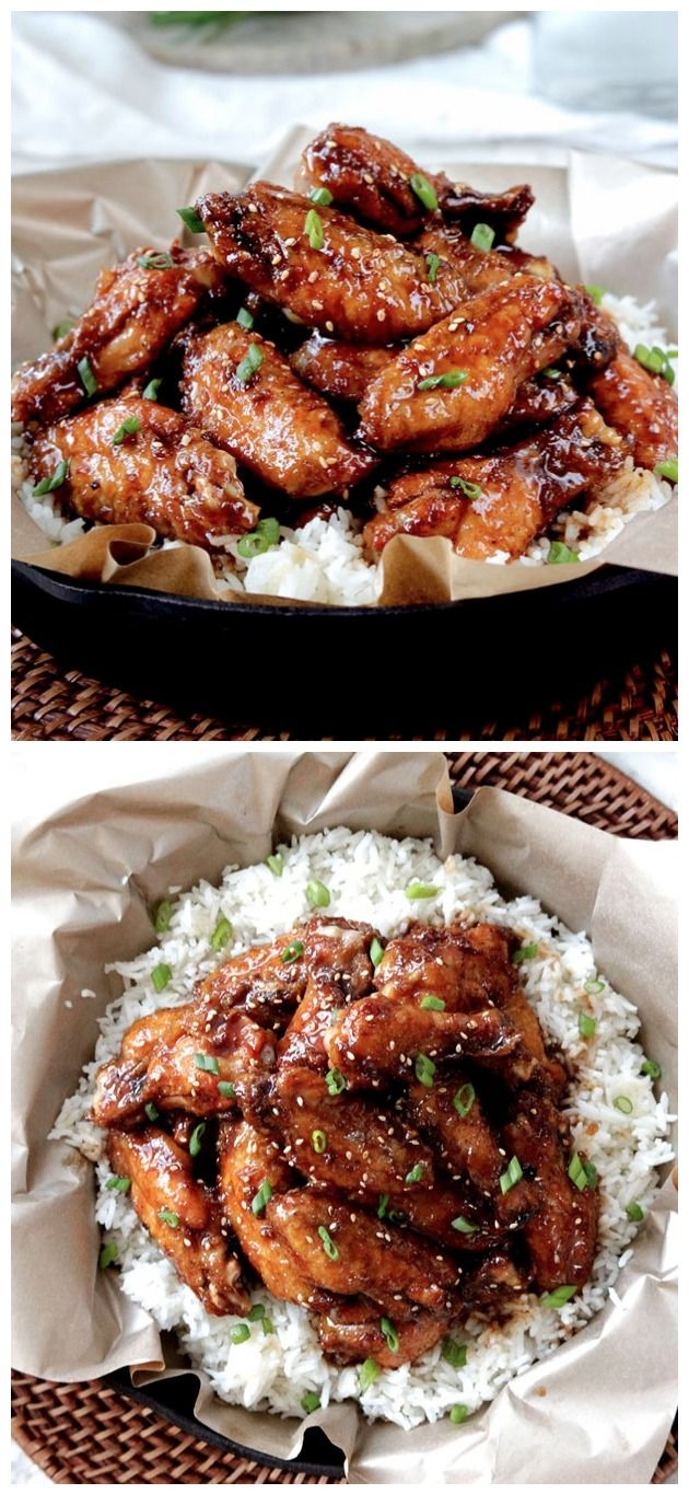Baked General Tso's Sticky Wings Ingredients 24 chicken wings with skin (approx 3 pounds), rinsed and patted dry Rub 2 tablespoons baking powder 1/2 teaspoon black pepper 1/4 teaspoon cayenne peppe…