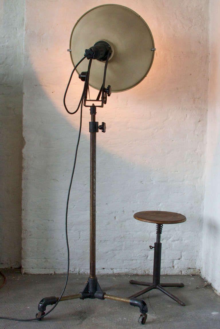 1930s Jupiterlicht Floor Lamp In Black Floor Lamp Base Vintage Floor Lamp Floor Lamp