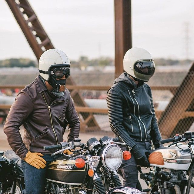 Helmet And Jacket Cafe Racer