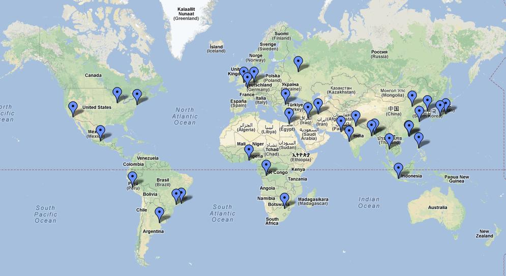 carte du monde ville Les plus grandes villes du monde • Carte (avec images) | Villes du