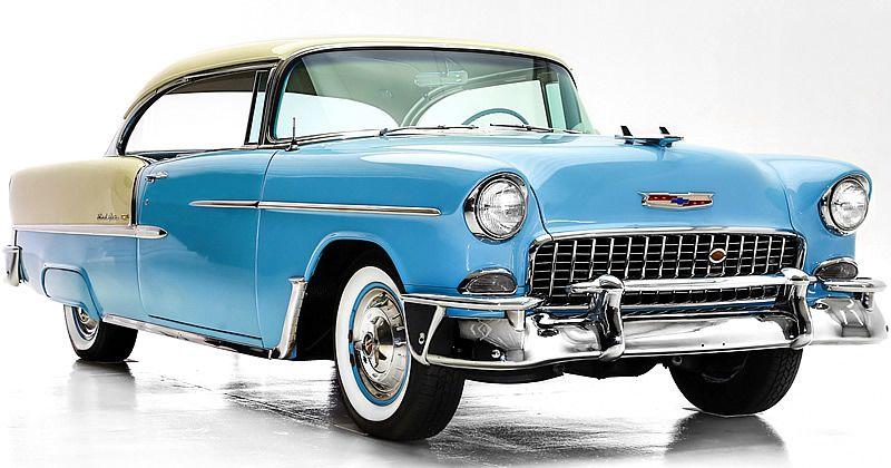 1955 Chevrolet Bel Air Sport Coupe Skyline Blue Ivory Turbo Fire V8 1955 Chevrolet Chevrolet Bel Air Chevrolet