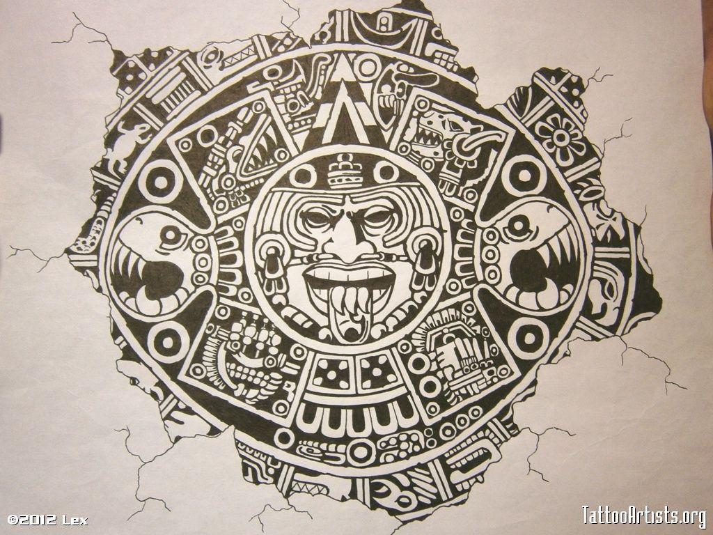 An Aztec Tattoo Design Photo